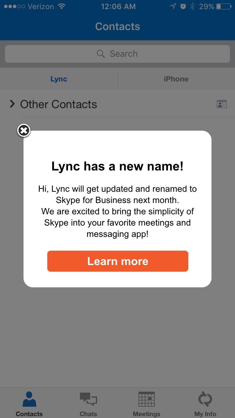 Lync | Exchange Goddess